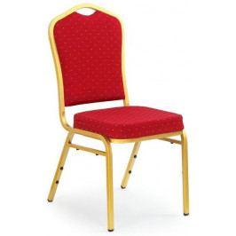 Halmar Jednací židle K66 Modrá/zlatá