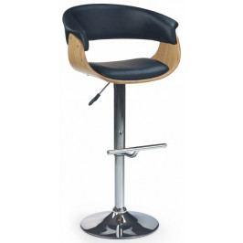 Halmar Barová židle H-45 Světlý dub/černá