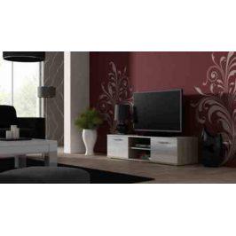 Cama Televizní stolek SOHO 140 - dub Sonoma/bílá