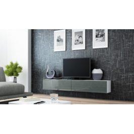 Cama Televizní stolek VIGO 180 - bílá/šedá