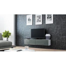 Cama Televizní stolek VIGO 140 - bílá/šedá