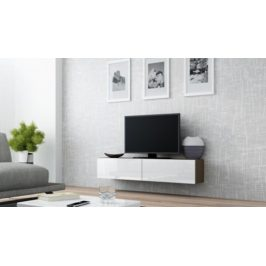 Cama Televizní stolek VIGO 140 - latte/bílá