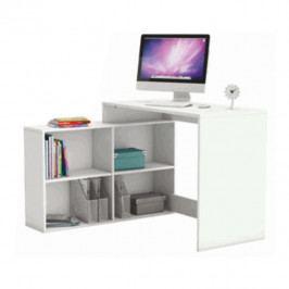 Tempo Kondela PC stůl KORNER - bílá Psací stoly