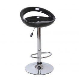 Tempo Kondela Barová židle DONGO NOVE - černá / chrom