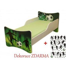 Forclaire Dětská postel Fotbal postel bez úložného prostoru140x70cm