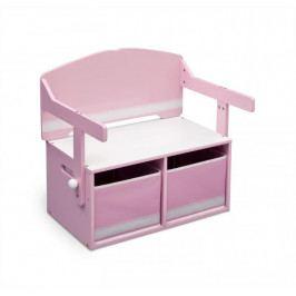 Forclaire Dětská lavice s úložným prostorem růžová