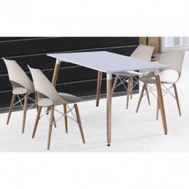 Tempo Kondela Jídelní stůl DIDIER NEW - bílá + buk