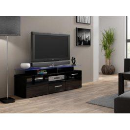 Cama Televizní stolek Evora mini RTV - černá /černý lesk