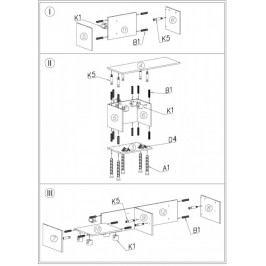 Cama Televizní stolek Sigma 1B - černá+bílá/bílá+černá