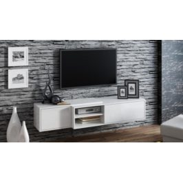Cama Televizní stolek Sigma 1F - bílá/bílá