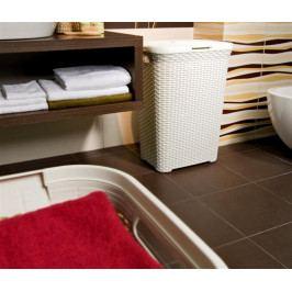 Curver Koš na čisté prádlo RATTAN STYLE 45L - krémový