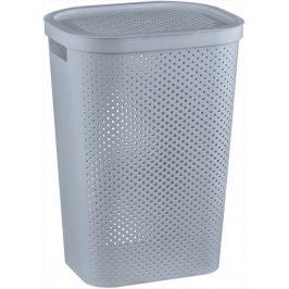 Curver Koš na prádlo INFINITY DOTS 59L - šedý