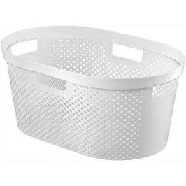 Curver Koš na čisté prádlo INFINITY DOTS 39L - bílý