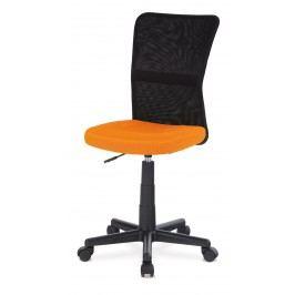 Sconto Kancelářská židle BAMBI oranžová/černá