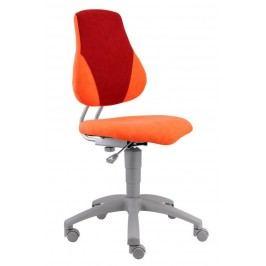 Sconto Kancelářská židle ELEN oranžová/červená