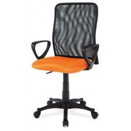 Sconto Kancelářská židle FRESH oranžová/černá