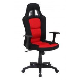 Sconto Otočná židle REDDY černá/červená
