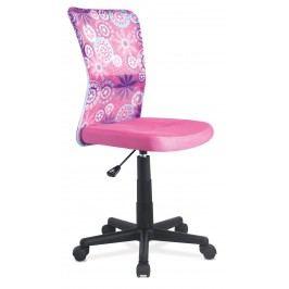 Sconto Kancelářská židle BAMBI růžová s motivem