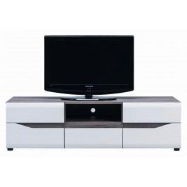 Sconto TV stolek LUCY LI 1 dub sonoma truffel/bílý lesk