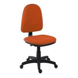 Sconto Kancelářská židle ELKE oranžová Kancelářská křesla