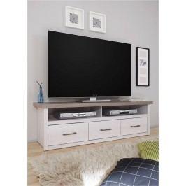 Sconto TV stolek PARVATI pinie bílá/dub truffel Stolky pod TV