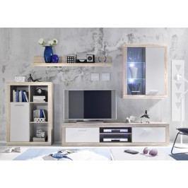 Sconto Obývací stěna SHARK dub sonoma/bílá