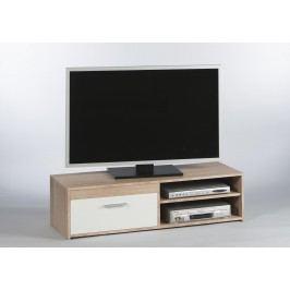 Sconto TV stolek GEMMA dub sonoma/bílá