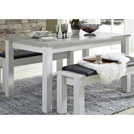 Sconto Jídelní stůl LIMA pinie/bílá