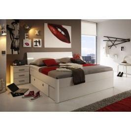 Sconto Postel s nočními stolky MAESTRO bílá, 180x200 cm