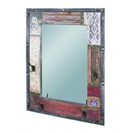 Sconto Zrcadlo s věšáčky DAKARA hnědá/vintage
