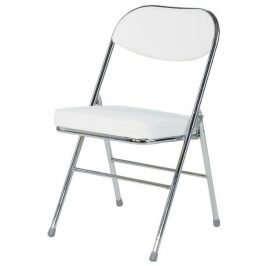 Sconto Skládací židle FLORIAN bílá