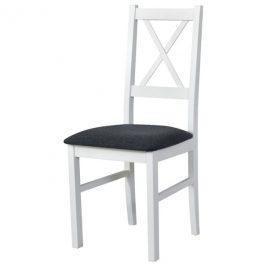 Sconto Jídelní židle NILA 10 tmavě šedá/bílá
