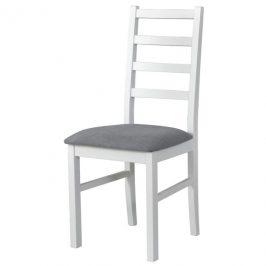 Sconto Jídelní židle NILA 8 šedá/bílá