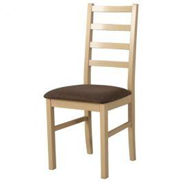 Sconto Jídelní židle NILA 8 hnědá/dub sonoma