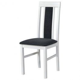 Sconto Jídelní židle NILA 2 tmavě šedá/bílá