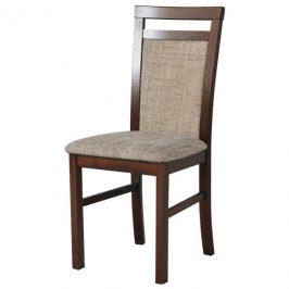 Sconto Jídelní židle MILAN 5 hnědá/béžová