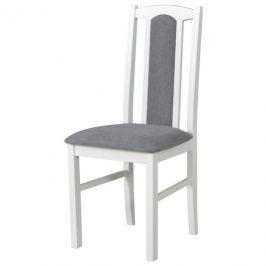 Sconto Jídelní židle BOLS 7 šedá/bílá