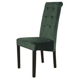 Sconto Jídelní židle FUCHSIA zelená/černé nohy