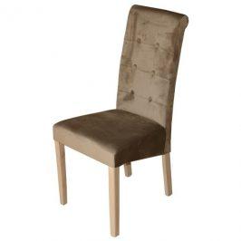 Sconto Jídelní židle FUCHSIA hnědá/dub
