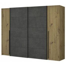 Sconto Šatní skříň ARAGON dub artisan, beton