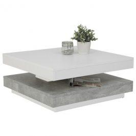 Sconto Konferenční stolek ANDY bílá/beton