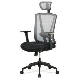 Sconto Kancelářská židle EDWARD černá/šedá