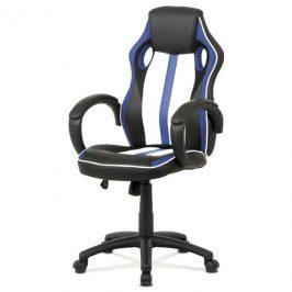 Sconto Kancelářská židle LAWRENCE modrá/černá/bílá