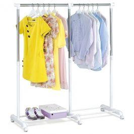 Sconto Pojízdný stojan na šaty DURANT 1 bílá