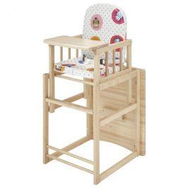 Sconto Dětská kombinovaná židle SARAN přírodní, motiv sovy