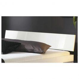 Sconto Čelo postele ARIZONA bílá vysoký lesk, šířka 145 cm