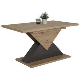 Sconto Jídelní stůl LIV T dub artisan/antracit