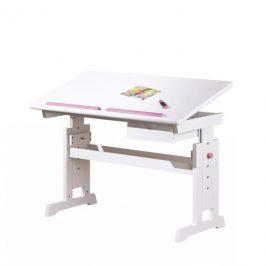 Sconto Nastavitelný psací stůl BERNIS bílá