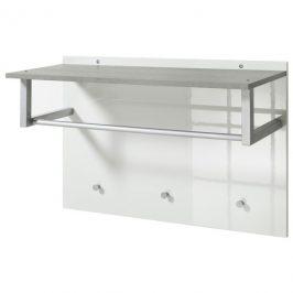 Sconto Předsíňový panel GAVERA bílá/beton
