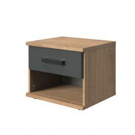 Sconto Noční stolek MERSEY prkenný dub/grafit
